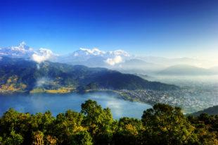 La ville de Pokhara - Lac Phewa Tal